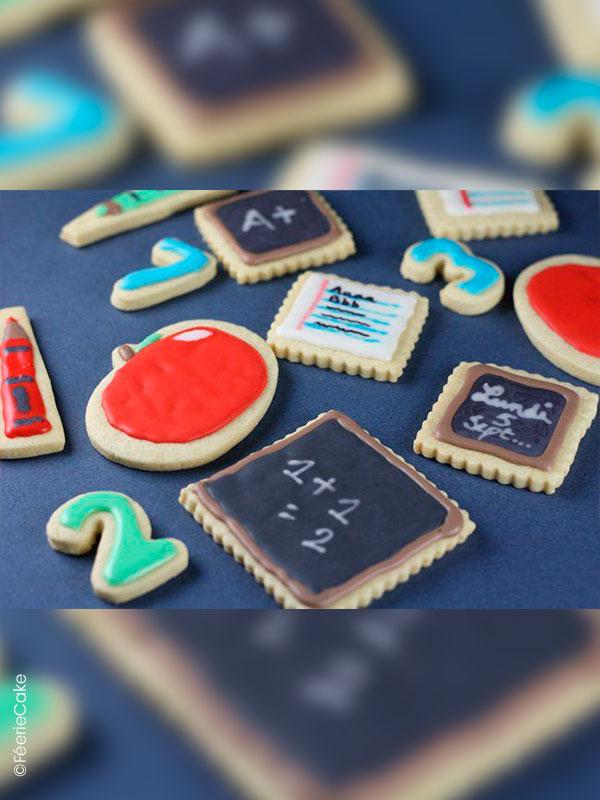 Biscuits sablés pour la rentrée des classes