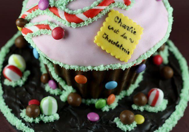 cupcake geant zomm dessus