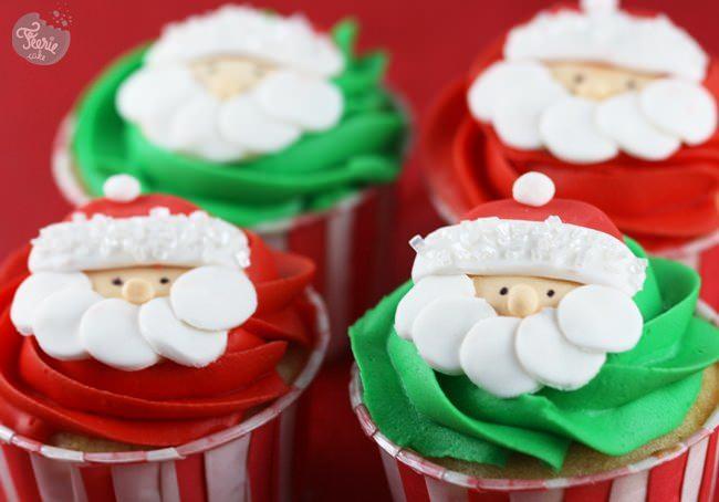 Cupcakes p re no l f erie cake - Deco pour cupcake ...