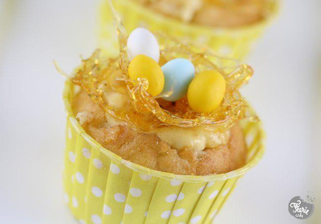 Cupcake à la crème brûlée