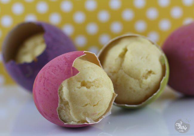 Cupcakes de Pâques... dans de vrais oeufs!