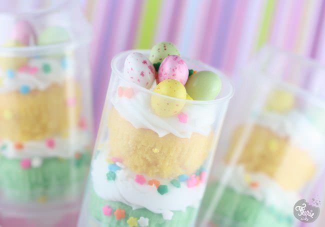 Push up cake pops aux couleurs de Pâques!