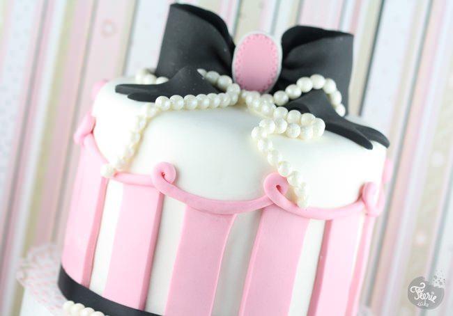 Un gâteau glam chic