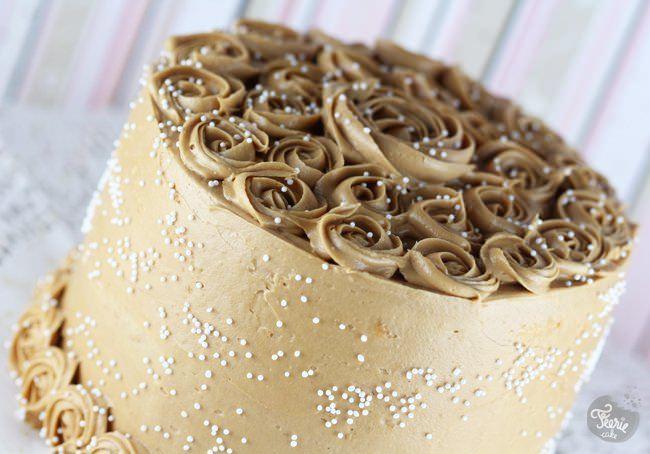 Gâteau au speculoos et café latté