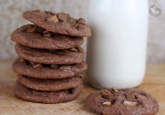 Cookies tout chocolat et poire