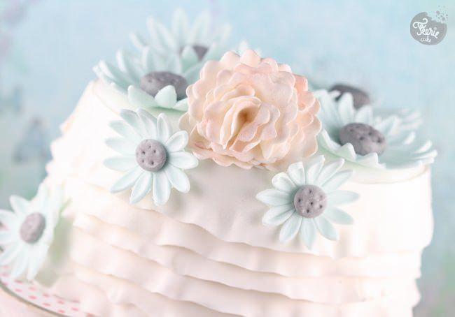 Un gâteau fleuri et poétique
