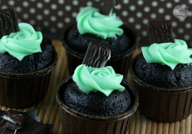 Cupcakes chocolat-menthe d'après huit heures