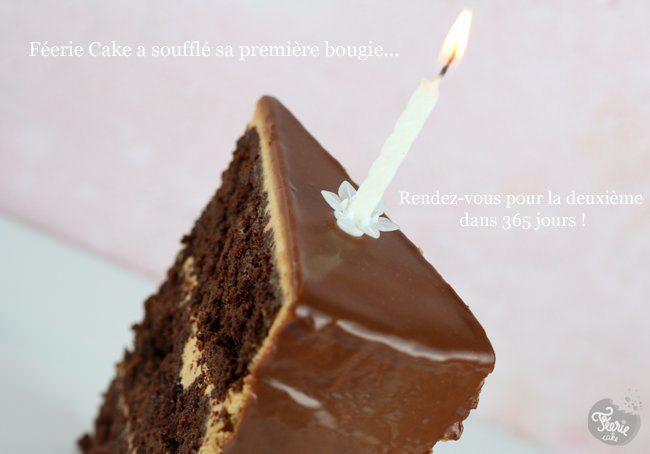 Notre gâteau d'anniversaire