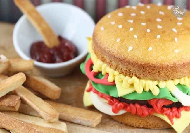 Un burger et des frites pour la fête des Pères!