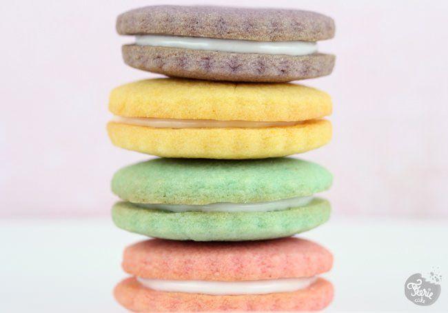 Des biscuits aux couleurs pastels