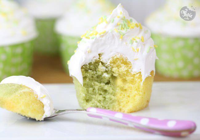 Un cupcake bicolore