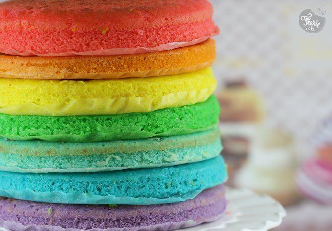 Recette Cake Design Rainbow : Rainbow cake : la recette - Feerie Cake Blog- Cake design
