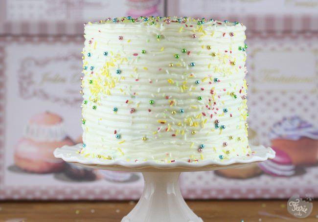 rainbow cake et glaçage