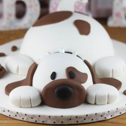 gateau anniversaire theme chien