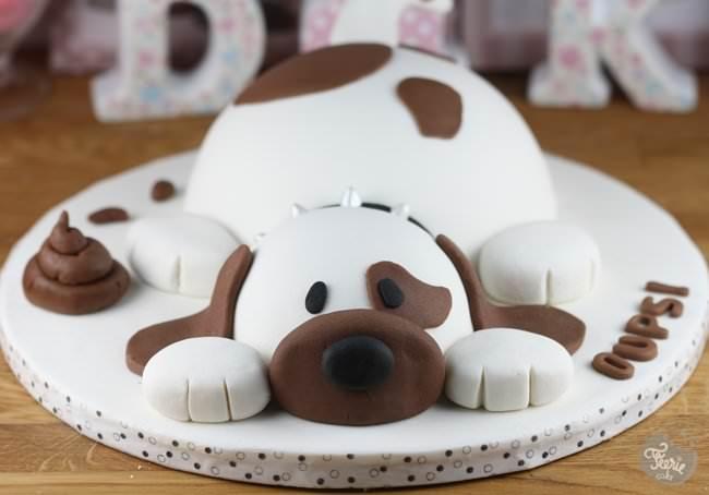gateau d anniversaire forme chien