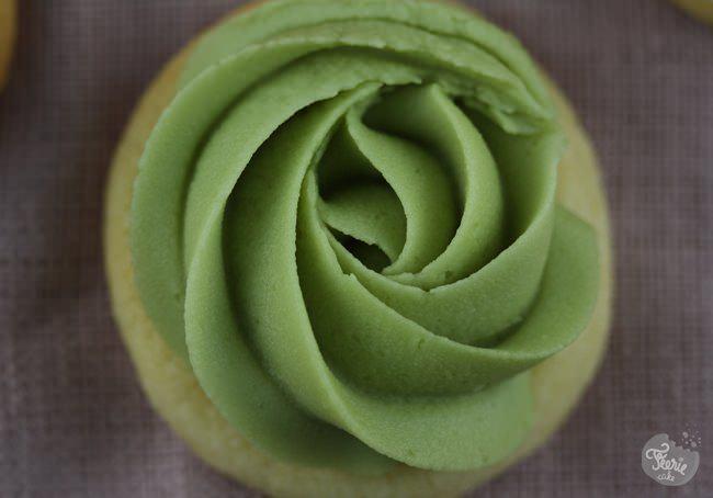 sugar cookies Bouquet de roses vert