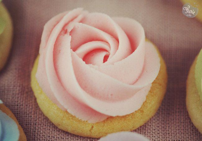 sugar cookies Bouquet de roses rose