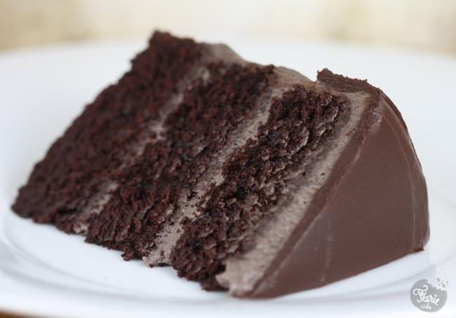 Gateau au chocolat glacage mascarpone