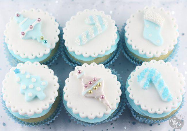 cupcake noel en bleu 2