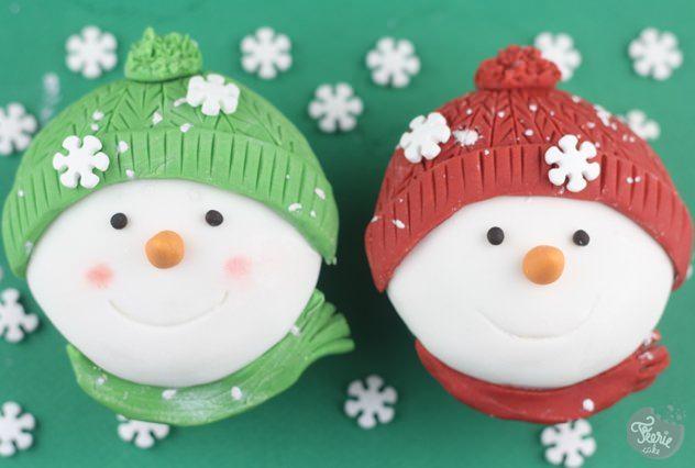 cupcakes bonhomme de neige4