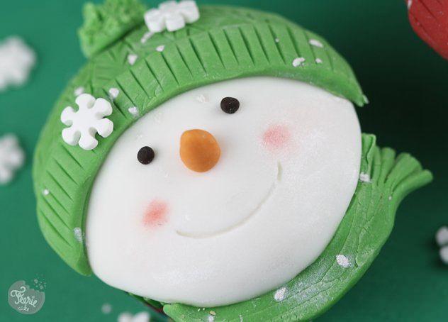 cupcakes bonhomme de neige6
