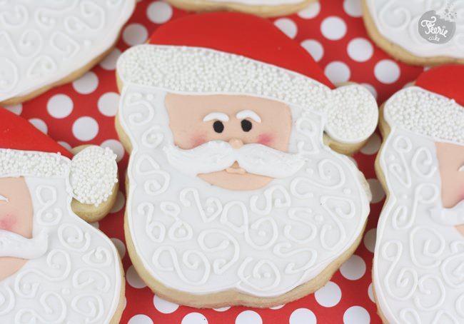 Biscuits décorés Père Noël