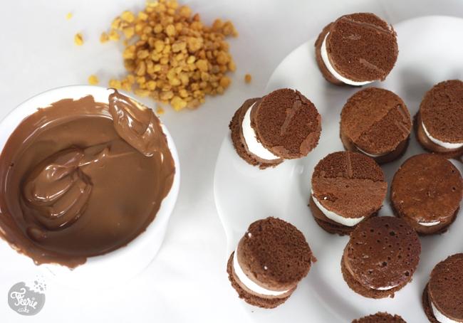 Bouchée à la mousse chocolat et guimauve