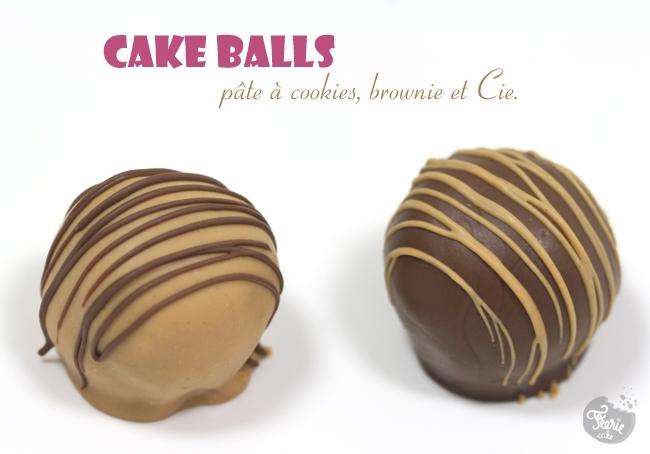 Cake balls à la pâte à cookies et au brownie