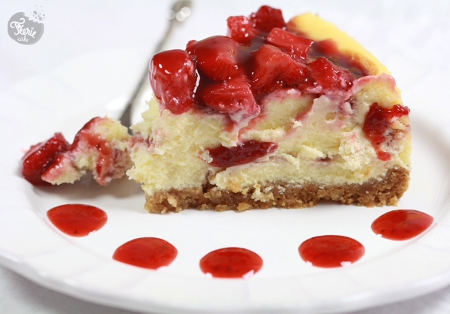 cheesecake marbré fraise