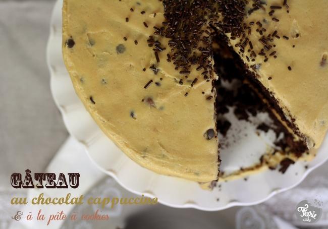 Gâteau au chocolat cappucino & à la pâte à cookies