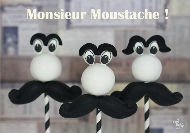 Monsieur Moustache cake pop