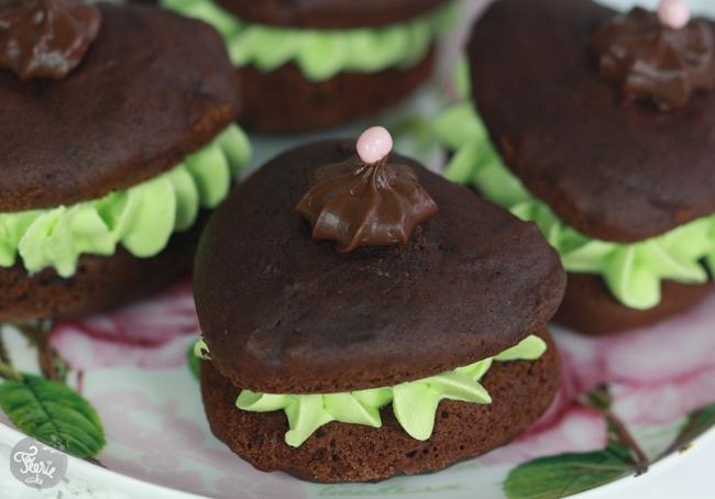 whoopie pies chocolat pistache