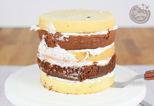 Gâteau seau de plage