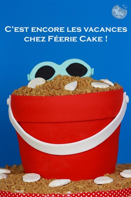 Le gâteau seau de plage