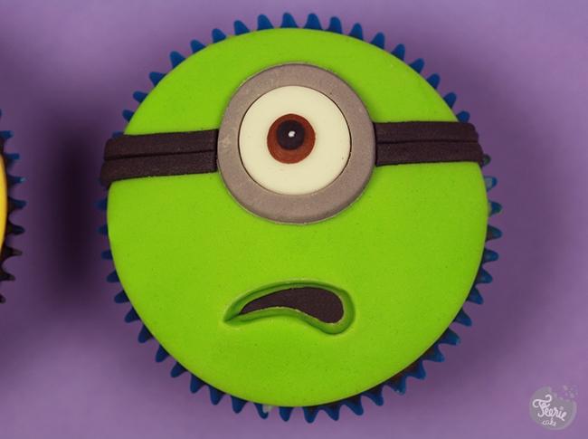 cupcakes Minions vert