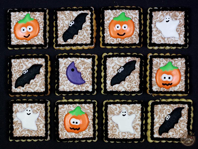 Biscuits décorés Halloween encadré