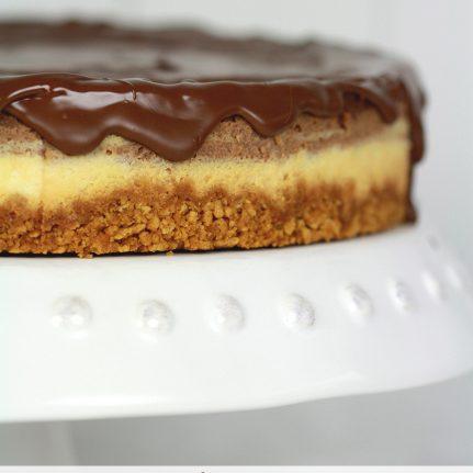 Cheesecake aux 3 chocolats