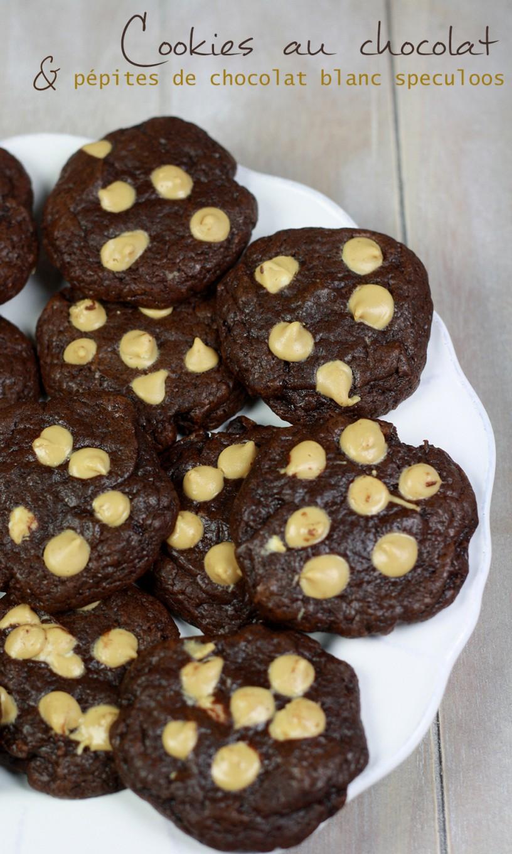 Cookies au chocolat & pépites de chocolat blanc speculoos