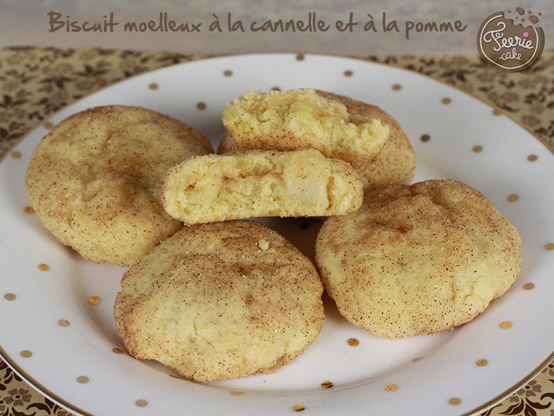 Biscuit moelleux à la cannelle et à la pomme