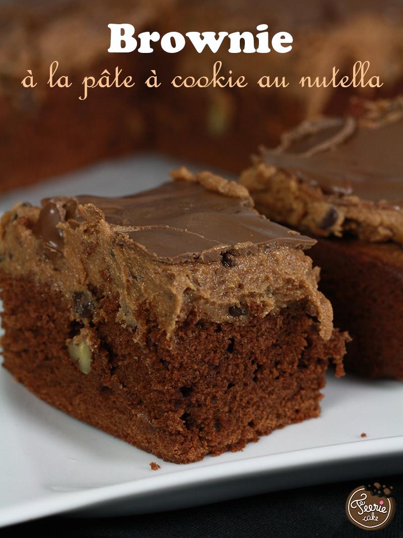 Brownie à la pâte à cookie au nutella