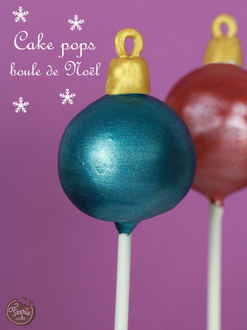 Cake pops boule de Noël