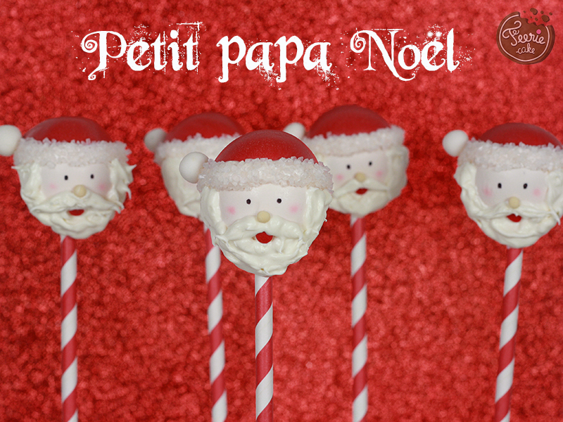 Cake pop père Noël