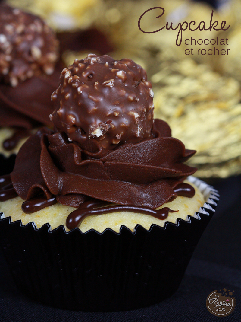 Cupcake chocolat et rocher