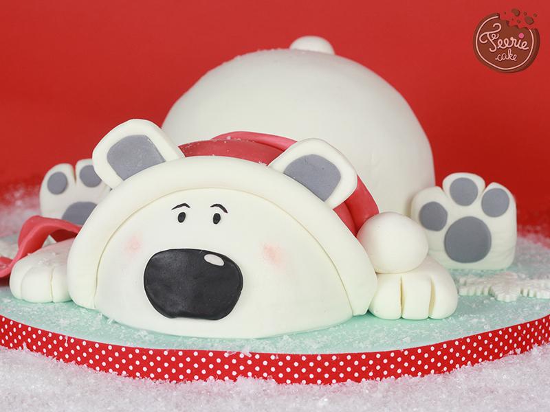 jean-pierre, l'ours blanc de noël - féerie cake