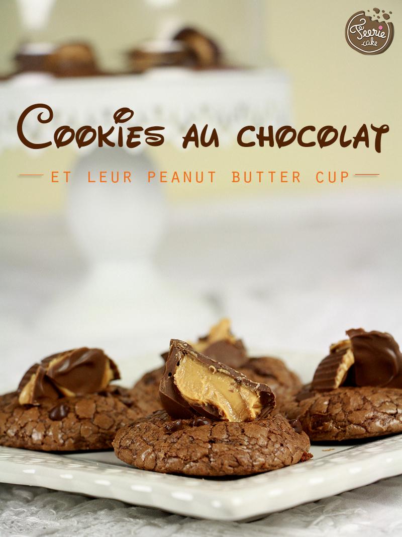Cookies au chocolat et peanut butter cup