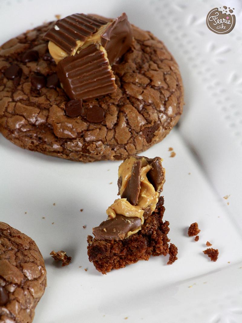 cookies chocolat et peanut butter cups3