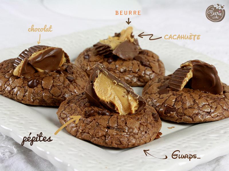cookies chocolat et peanut butter cupsjpg
