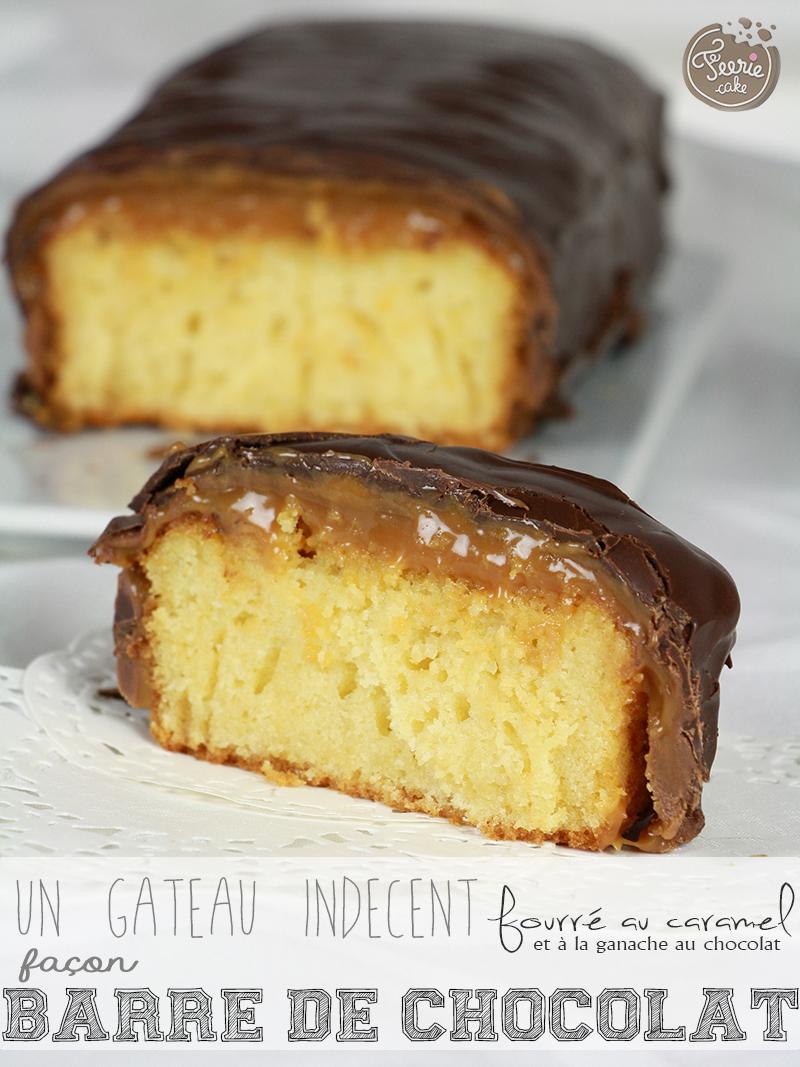 Le gâteau façon barre chocolatée