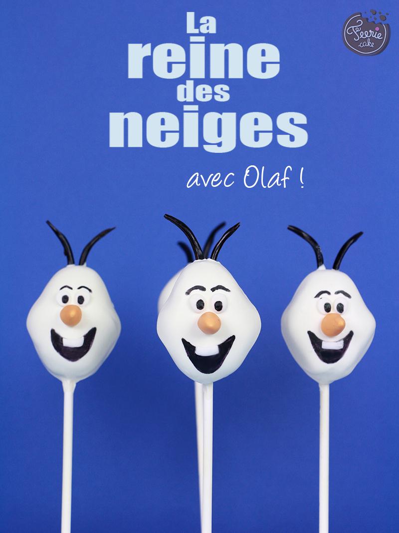 Cake pops Olaf