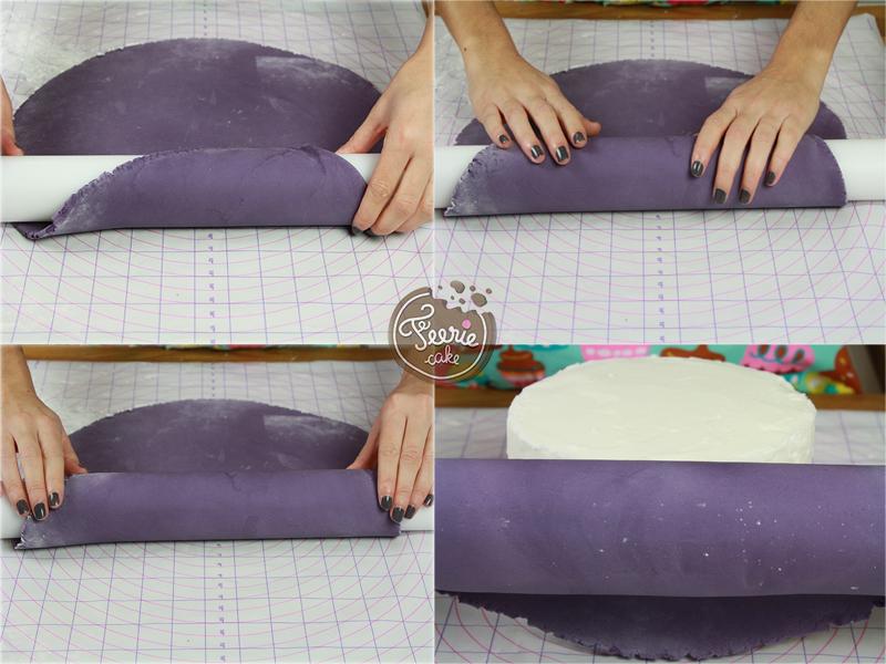 Comment napper un gateau de pate a sucre
